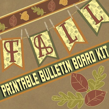 picture relating to Fall Banner Printable named Slide Printable Banner Bulletin Board Package