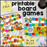 Fall Printable Board Games - for Any Skill
