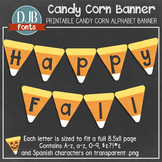 Fall Printable: Candy Corn Banner Alphabet - Create Your Own Banner