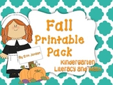 Fall Printable Pack