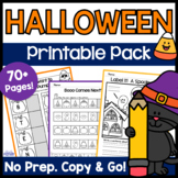 Halloween Activities: Math and Literacy Printables