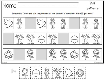Fall Pattern Printables