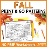 Fall Patterns Worksheets | Cut & Glue