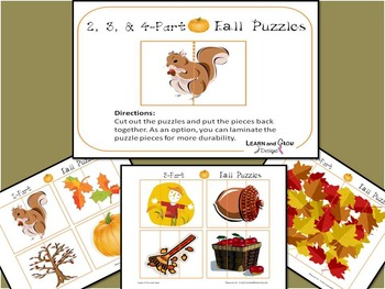 Fall Printable Puzzles for Children