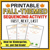 Fall Printable Sequencing Activity for 1st Grade, Kindergarten and 2nd Gr