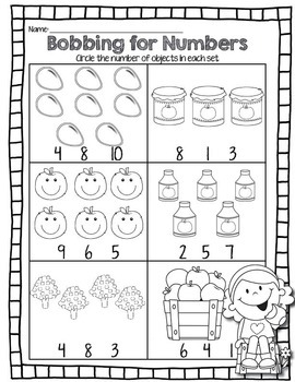 Fall Printables for Kindergarten