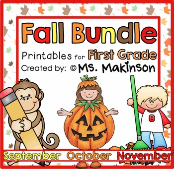 Fall Printables (BUNDLE) - First Grade Literacy, Math, and Science