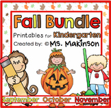 Fall Printables (BUNDLE) - Kindergarten Literacy, Math, and Science