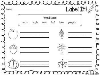 Fall Printables {ELA and Math}
