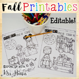 Fall Printables - Editable FREEBIE
