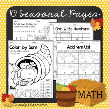 Fall Printables Mini-Pack for ELA and Math
