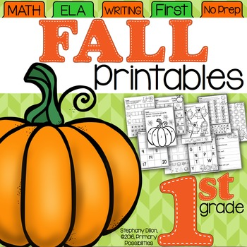 Fall Printables for First Grade {Ready, Set, Print!}