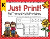 Fall Printables for Math