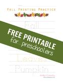 Fall Printing Practice for Preschoolers