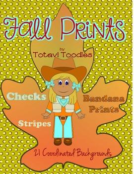 Fall Prints * Backgrounds * Fills * Digital * Printable