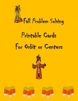 Fall Problem Solving Cards for Orbit or Centers