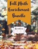 Fall Problem Solving Enrichment Math Grades 4-6 Bundle