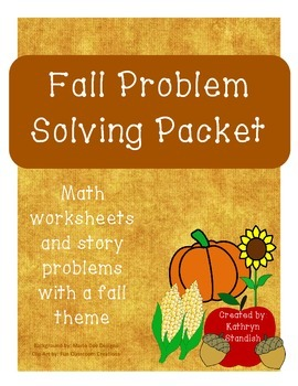 Fall Problem Solving Packet