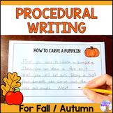 Procedural Writing Prompts (Fall)