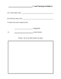 Fall Product Goal Planning Worksheet
