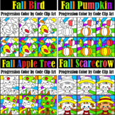 Fall Progression Color by Code Clipart Bundle