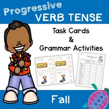 Progressive Tense Verbs - Fall