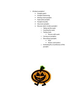 Fall Projects for Preschool and Kindergarten