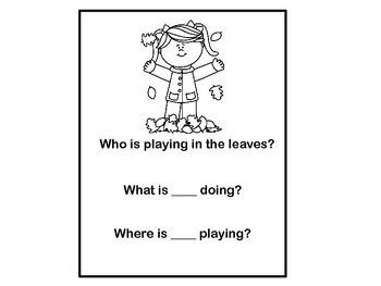 Fall Pronoun Coloring Book & Activities