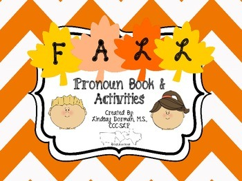 Fall Pronoun Coloring Book & Activities
