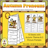 Fall Pronoun Pack for Elementary Speech Therapy