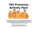 Fall Pronouns Activity Pack