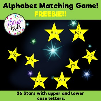Alphabet Matching Game! FREEBIE