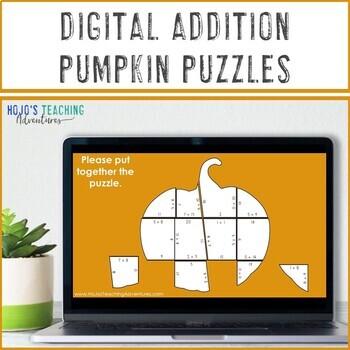 Fall Math Centers: Addition Pumpkin Puzzles