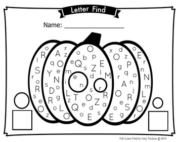 Letter Find - Fall Pumpkin Theme