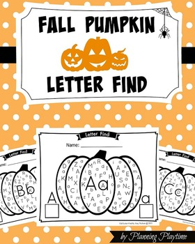 Letter Find - Fall Pumpkin Theme