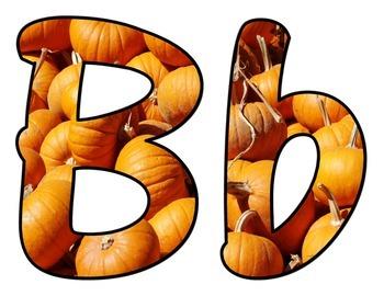 Fall Pumpkin BB Letters