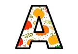 Fall Pumpkin Bulletin Board Letters, Classroom Décor, Fall Alphabet Posters