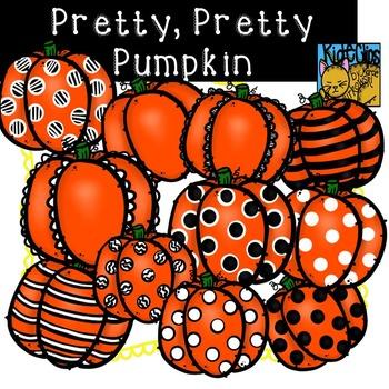 Fall Pumpkin Clip Art Pretty Pretty Pumpkin by Kid-E-Clips Commercial Personal