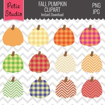 Fall Pumpkin Clipart // Thanksgiving Clipart // Pumpkin Patterns - Fall124