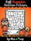 Fall Pumpkin Color By Number Addition Pictures