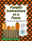 Fall Pumpkin Contraction Cards and Worksheets