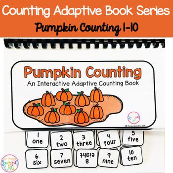 Fall Pumpkin Counting Adaptive Book (#1-10)