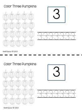 Fall Pumpkin Counting Booklet 1-20