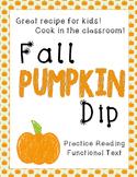 Fall Pumpkin Dip Recipe - Functional Text