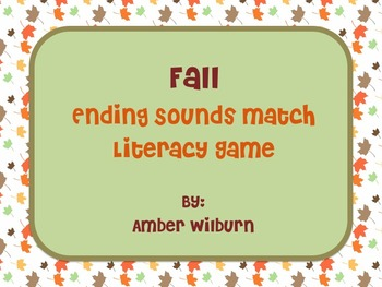 Fall Pumpkin Ending Sounds Match Game