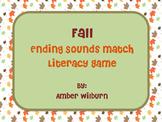 Fall Pumpkin Ending Sounds Match Game