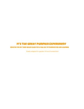 Cross-Curricular Pumpkin Pack