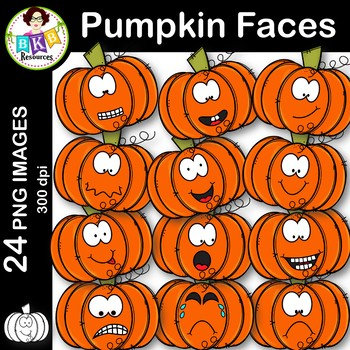 Fall Pumpkin Faces ● Clip Art