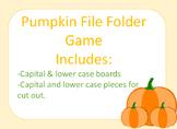Fall Pumpkin File Folder Alphabet Game