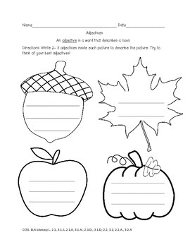 Fall Pumpkin Grammar Activities